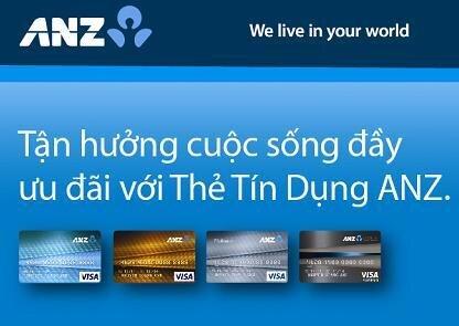Điều kiện thủ tục mở và hạn mức thẻ tín dụng ANZ