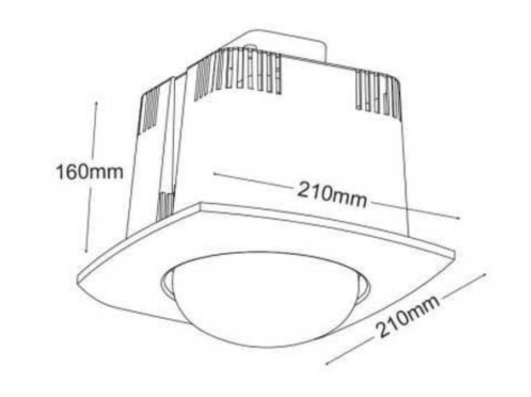 Ưu điểm của đèn sưởi âm trần 1 bóng