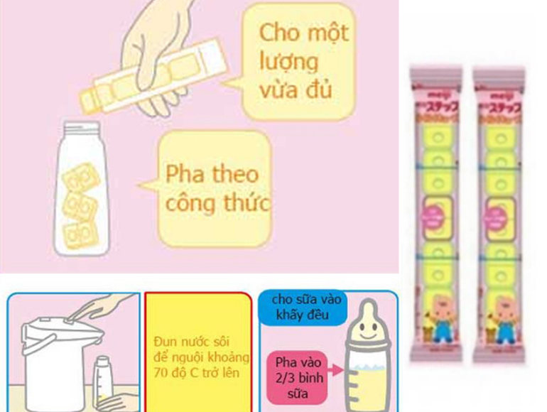 Cách pha sữa Meiji thanh chuẩn