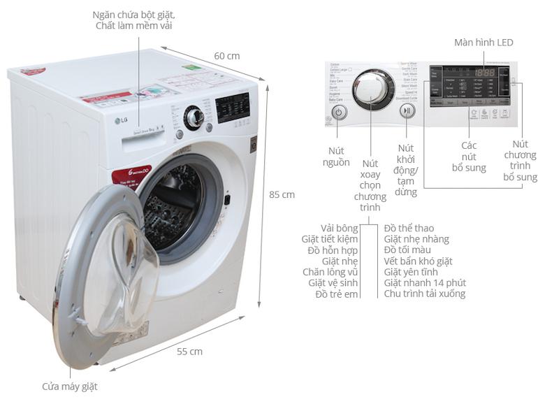 Những ưu nhược điểm của máy giặt cửa trước