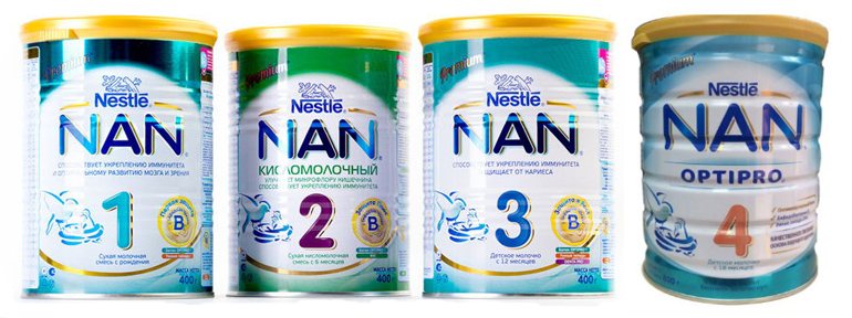 Sữa Nan Nga có mấy loại?