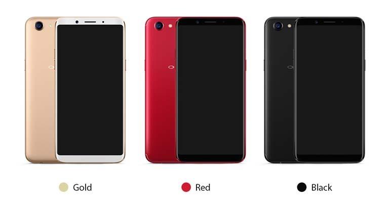 các màu trên điện thoại oppo f5