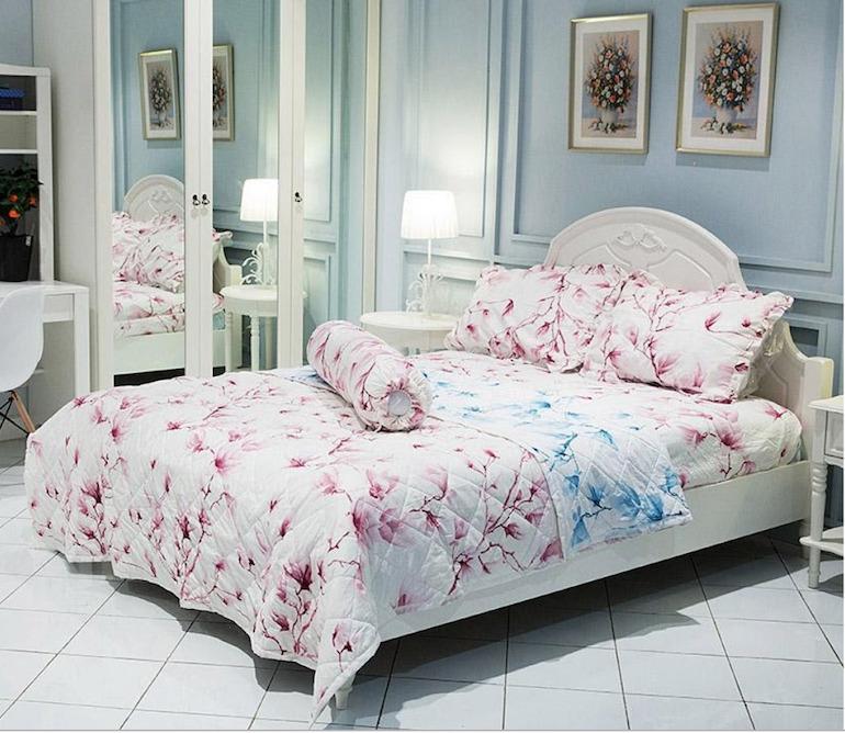 Ga trải giường Hoa anh đào Airwearbed - Sắc hồng nhẹ nhàng đón năm mới
