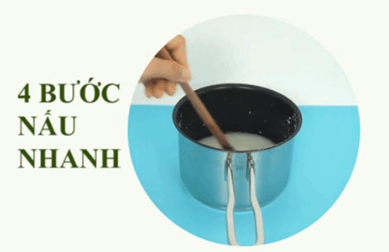Cách nấubột ăn dặm Mabu cho bé