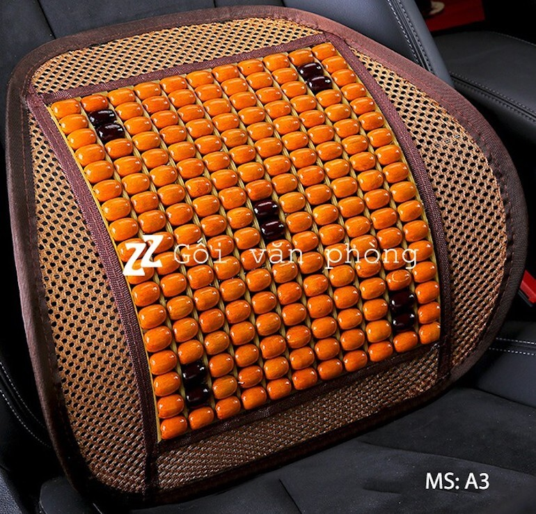 Gối tựa lưng hạt gỗ massage cao cấp BTL-01
