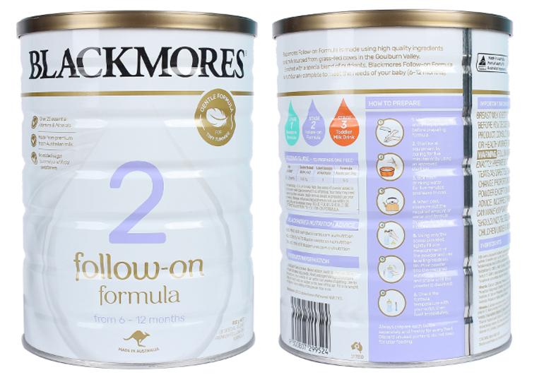 Sữa Blackmores số 2 là sữa công thức cho bé mấy tháng?