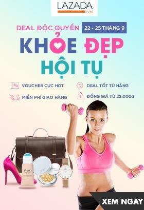 [ Lazada.vn ] Khỏe đẹp hội tụ - Voucher cực hot - Miễn phí giao hàng - Deal tốt từ hãng. Click XEM NGAY!