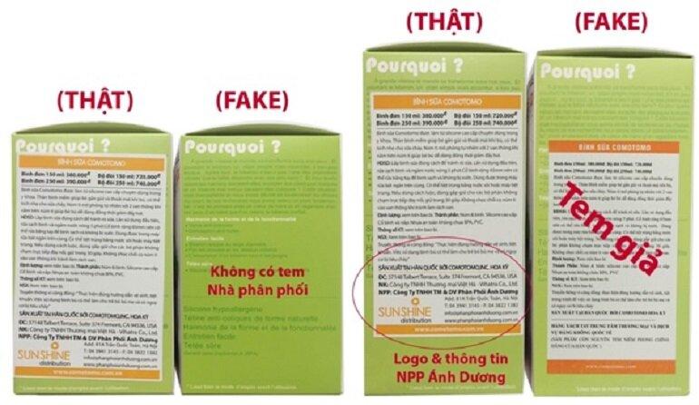 Cách kiểm tra bình sữa Comotomo chính hãng bằng tem nhà phân phối