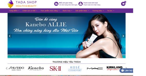 TADASHOP.VN – Trang web bán hàng online mỹ phẩm & Thực phẩm chức năng từ Nhật Bản