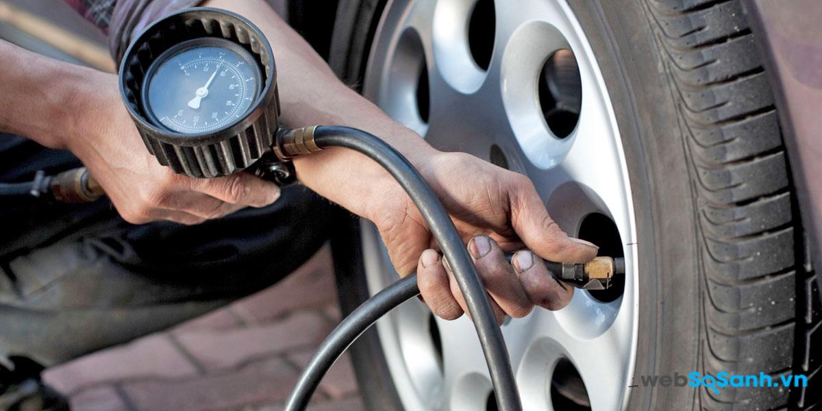 Đảm bảo áp suất lốp luôn ở mức hợp lý