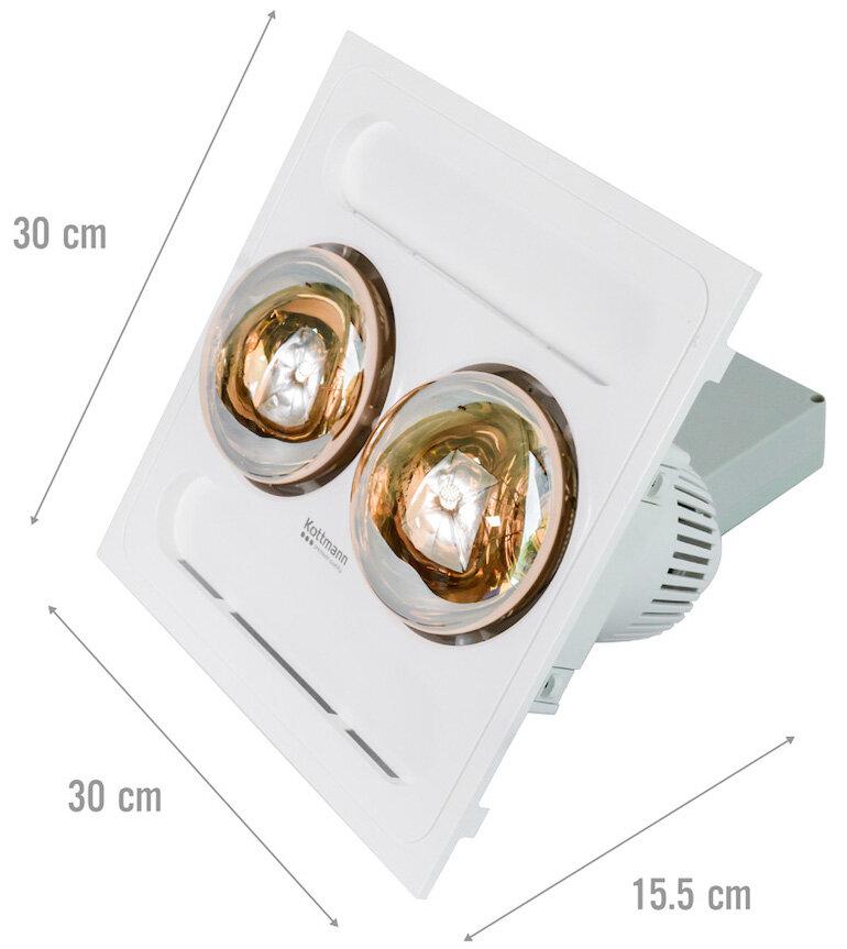 Đèn sưởi nhà tắm âm trần Kottmann K9R