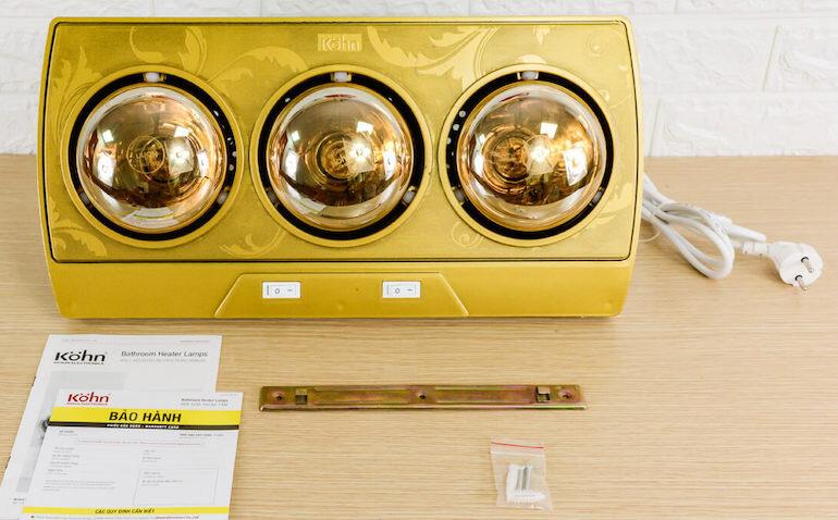 Đèn sưởi Braun Kohn KP03G 3 bóng