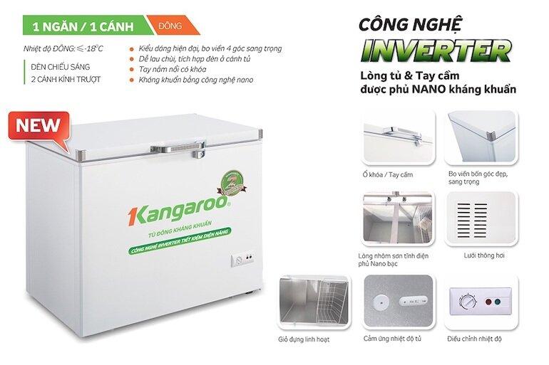 Tủ đông 1 ngăn Kangaroo KG265NC1