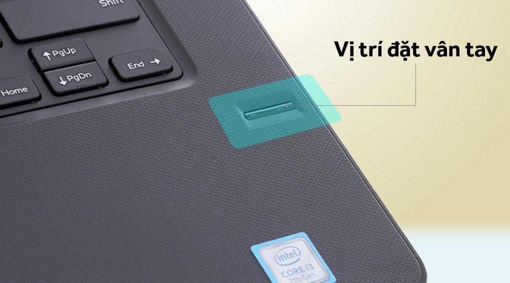 Bảo mật vân tay trên laptop Dell Vostro hiện đại