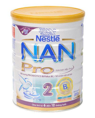 Sữa bột Nan Pro 2 - hộp 800g (dành cho trẻ từ 6 - 12 tháng)