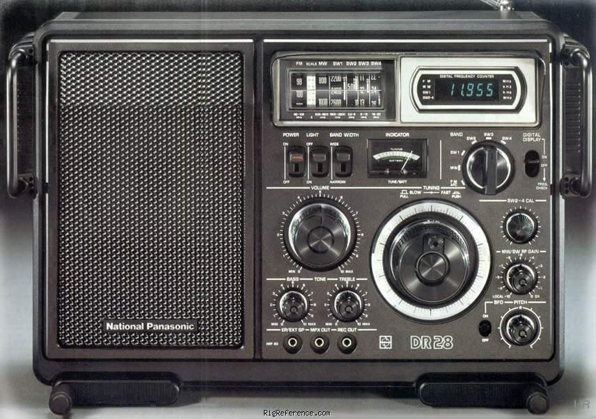 National Panasonic DR28 phiên bản châu Âu của Panasonic RF-2800