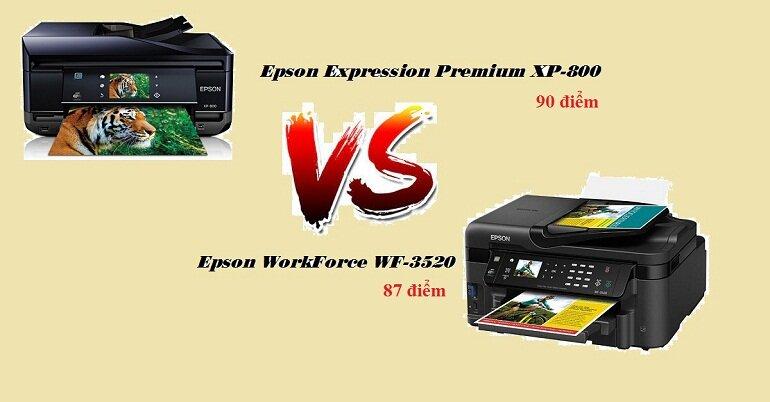 Điểm đánh của máy in Epson Expression Premium XP-800 và máy in Epson WorkForce WF-3520