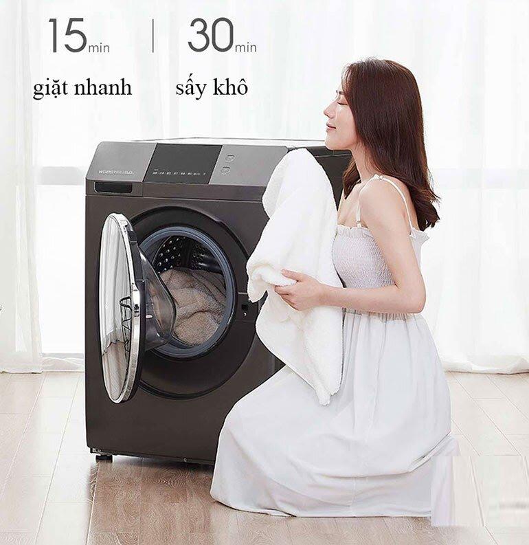 Máy giặt Xiaomi EXO WD8S có kết hợp sấy khô quần áo sau khi giặt