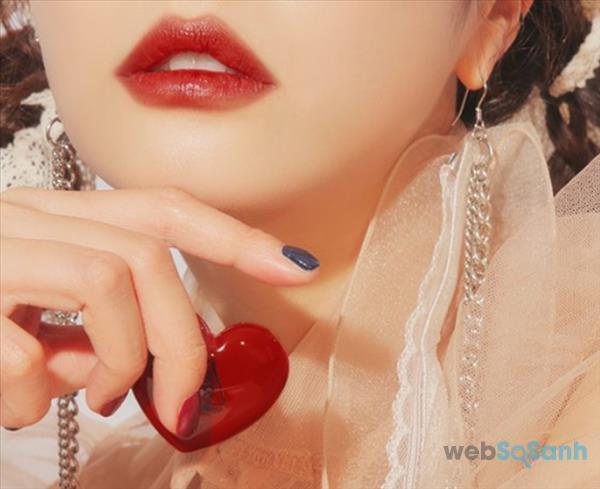 Son dưỡng 3CE trái tim màu Brick Red đỏ đất