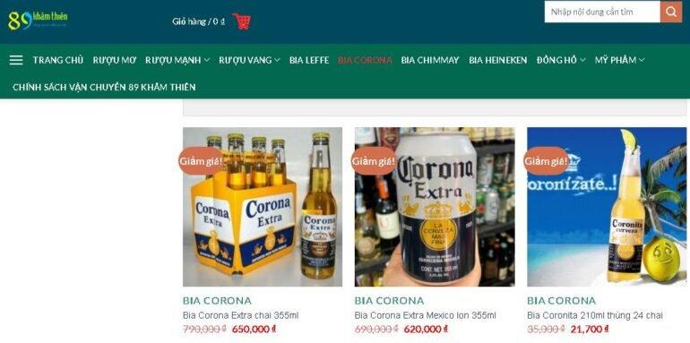 Mua bia Corona chính hãng nhập khẩu ở đâu?