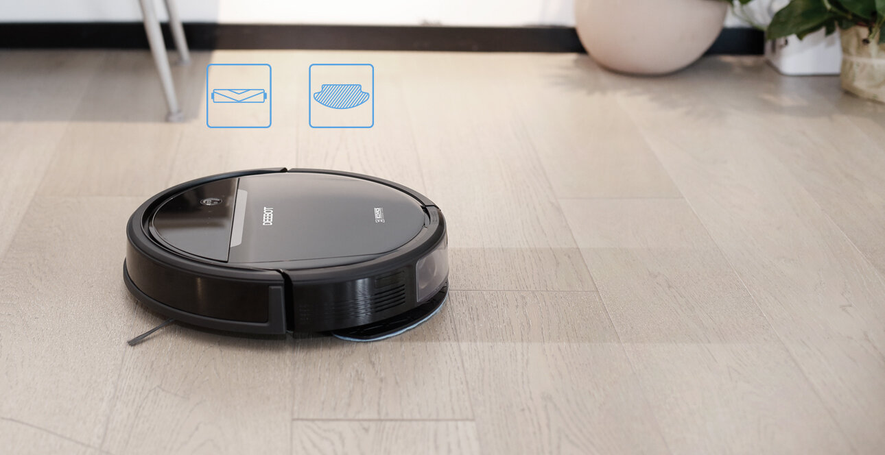 Dòng Deebot OZMO 600 cho phép bạn điều khiển máy ở bất kỳ đâu với ứng dụng điều khiển trên điện thoại