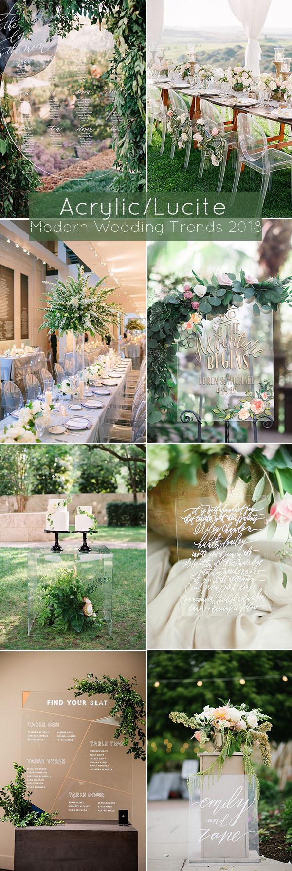 Xu hướng trang trí tiệc cưới với nhựa trong suốt