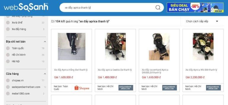Nên sử dụng Websosanh.vn để tìm nơi bán sản phẩm trước khi mua