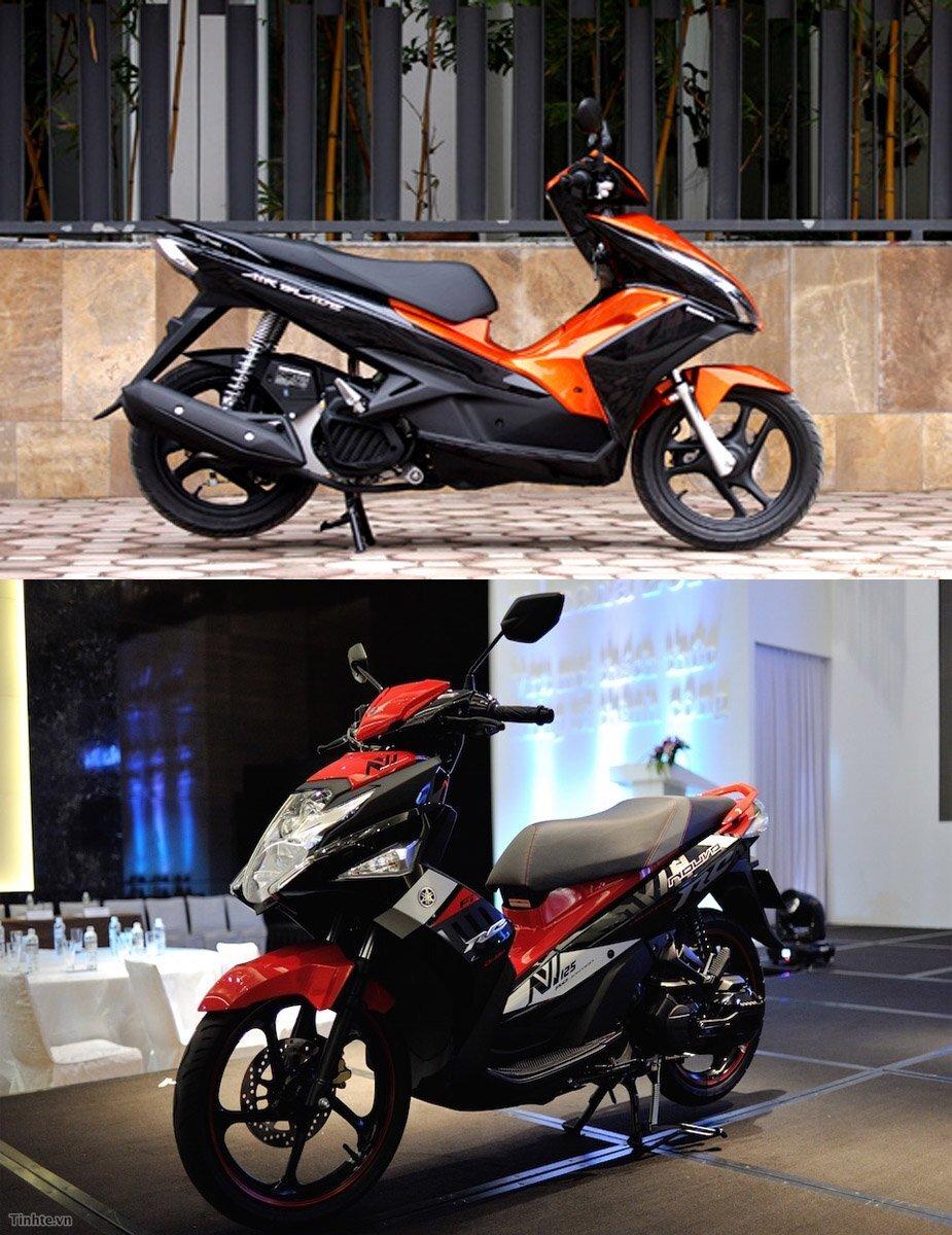 Xe máy của Yamaha nổi bật hơn hẳn trong thiết kế
