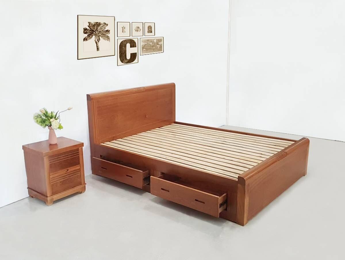 Giường có thiết kế thông minh và tiện dụng giúp tiết kiệm không gian cho căn phòng (Nguồn: phucan.com)