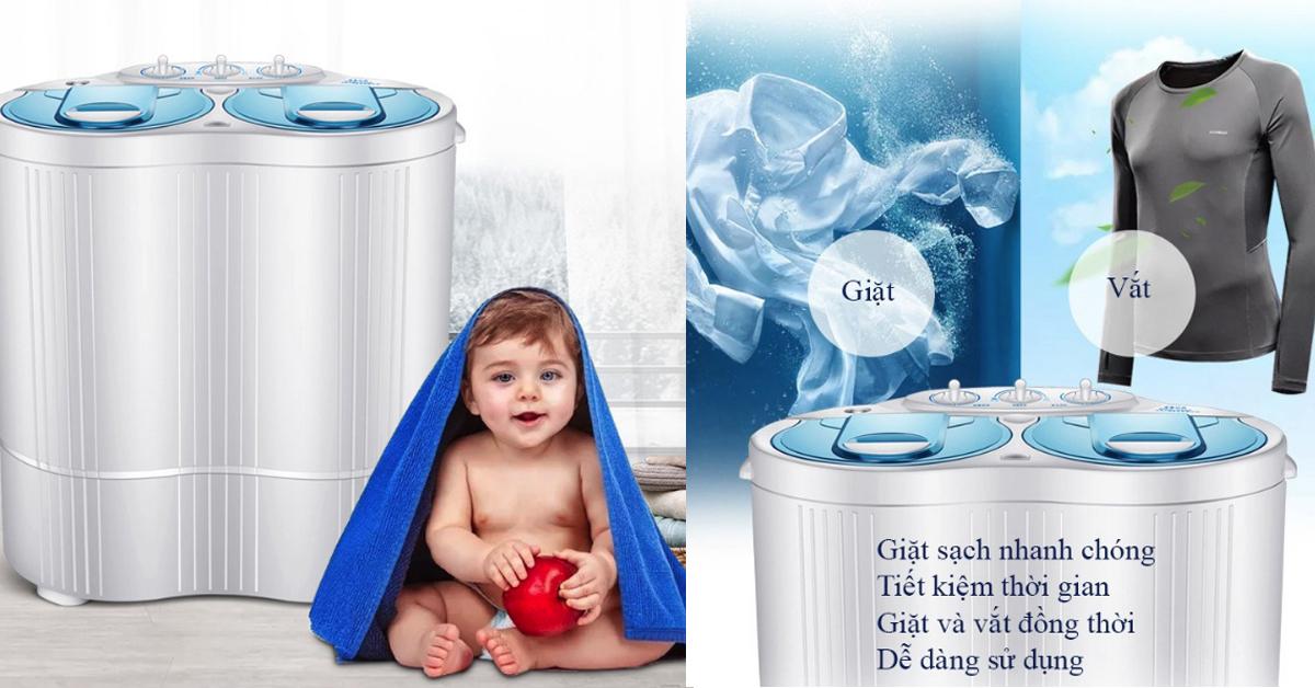 Lợi ích khi sử dụng máy giặt mini Nonan WM-01 2.5kg
