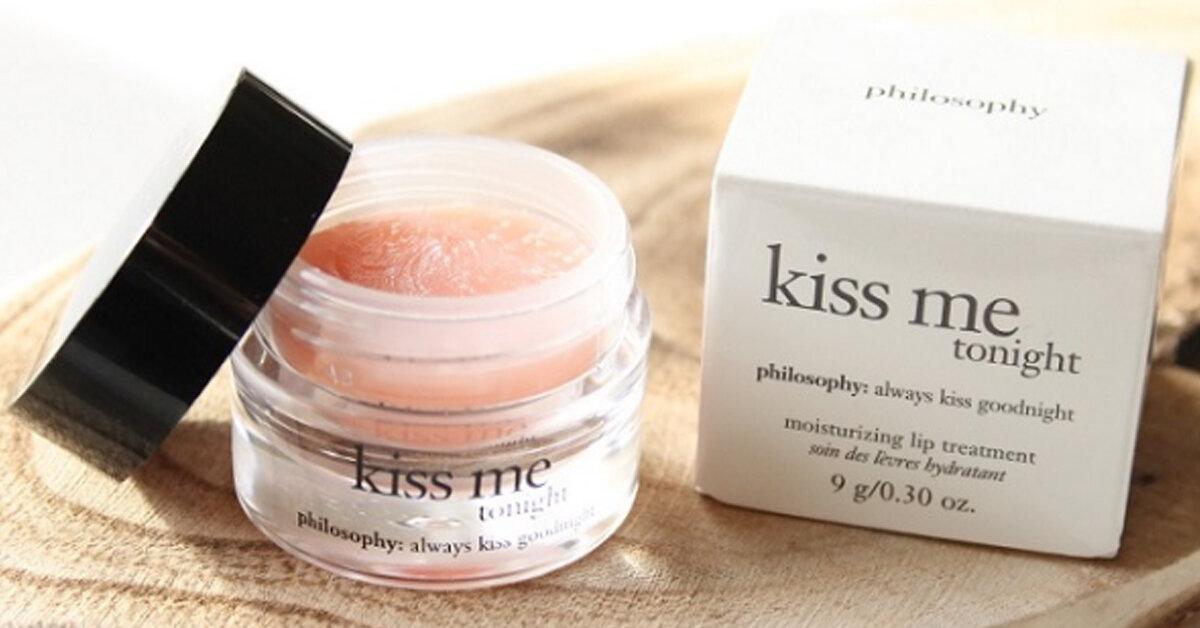 1001 vấn đề của môi đều sẽ được giải quyết chỉ với một hũ son dưỡng Philosophy Kiss Me Tonight
