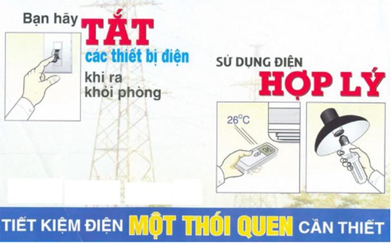 tắt điều hòa khi không sử dụng để tiết kiệm điện