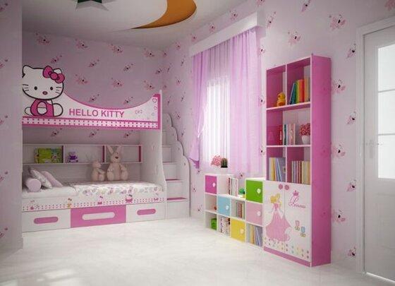 15 mẫu giường tầng cho bé gái tiện dụng phù hợp diện tích phòng ngủ