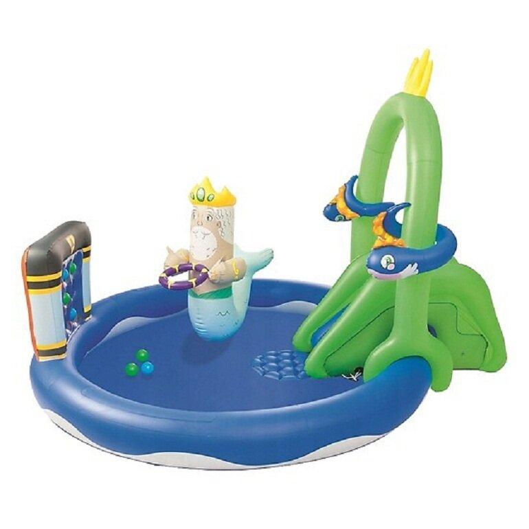 Phao bơi có cầu trượt lâu đài biển Bestway 53057