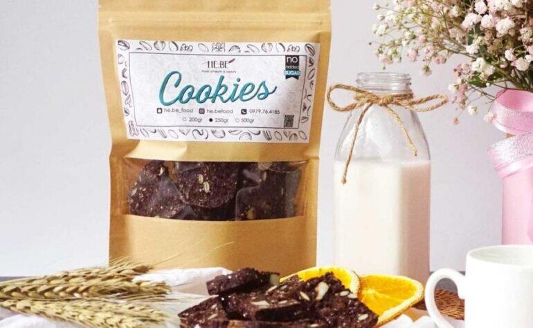 Bánh cacao yến mạch - Giá tham khảo: 100.000 vnđ - 120.000 vnđ/ gói 250g