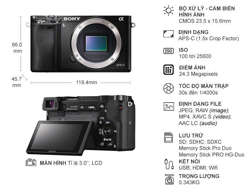 Màn hình LCD máy ảnh Sony A6000