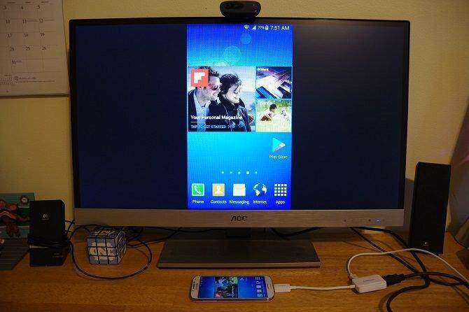 Kết nối điện thoại và máy tính bảng với TV bằng USB