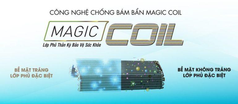 Công nghệ chống bám bẩn Magic Coil trên điều hòa toshiba 2018 mới nhất