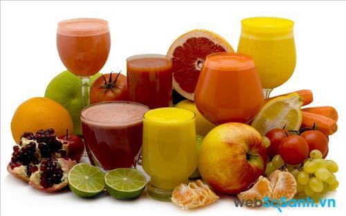 Các loại nước hoa quả có chứa vitamin giúp cơ thể tràn đầy năng lượng và khỏe mạnh cân đối