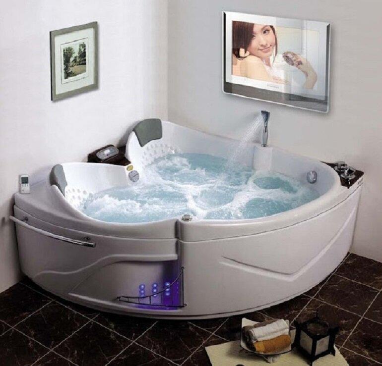 Bồn tắm sục được trang bị rất nhiều tính năng ưu việt