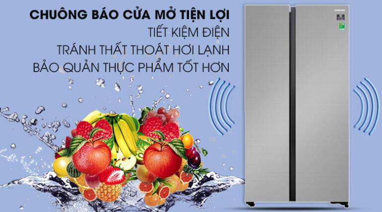 Tủ lạnh Samsung Side by Side 647 lít RS62R5001M9/SV màu xám bạc - Giá tham khảo khoảng 18 triệu vnđ