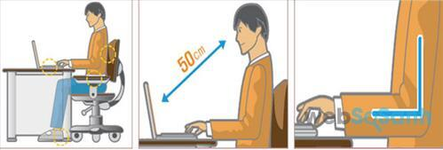 Tư thế ngồi khi sử dụng laptop