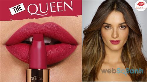 Màu đỏ trầm cực quyến rũ và nổi bật của Charlotte Tilbury The Queen