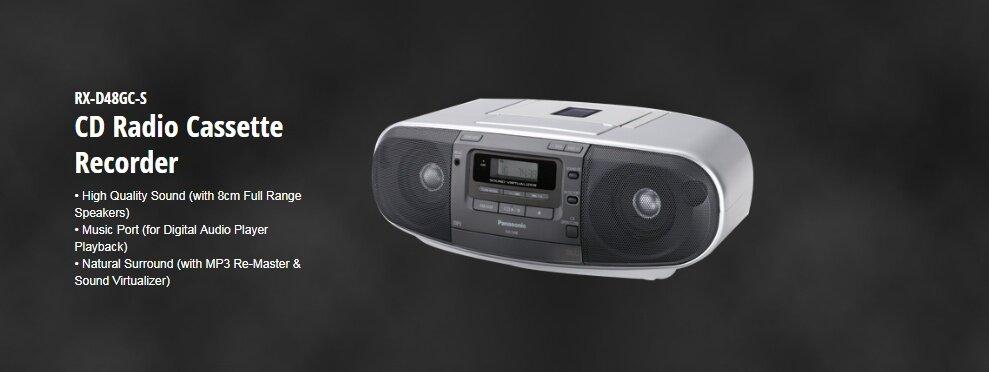 Máy thu phát vô tuyến điện Panasonic CD Radio RX - D48GC-S