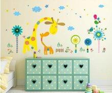 21 mẫu decal dán tường cho bé hình con vật trang trí phòng ngủ cực đẹp