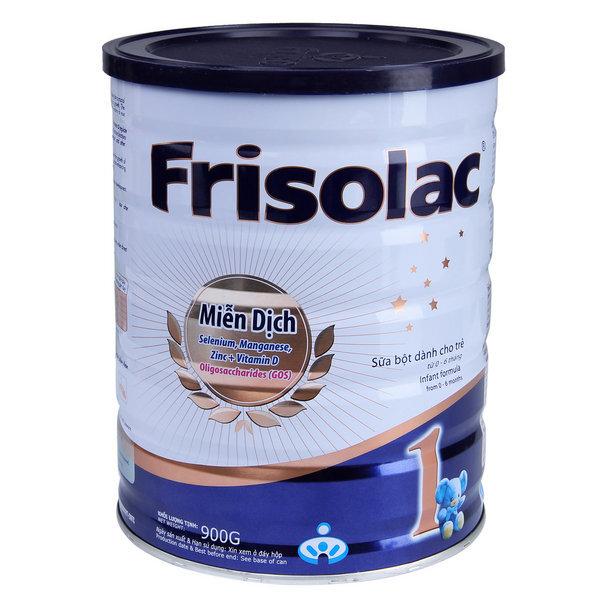 Sữa bột Frisolac 1 - hộp 900g (dành cho trẻ từ 0 - 6 tháng)