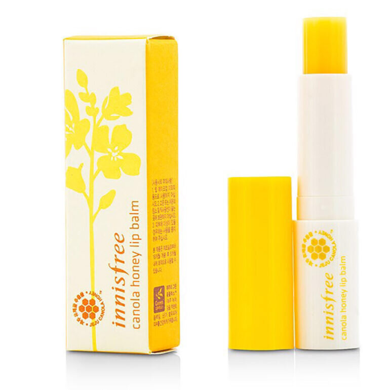 Son dưỡng Innisfree Canola Honey Lip Balm màu vàng