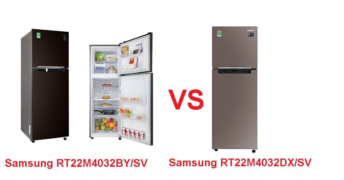 Đánh giá tủ lạnh Samsung Inverter 236 lít RT22M4032BY/SV có gì khác biệt so với người anh em Samsung RT22M4032DX/SV?