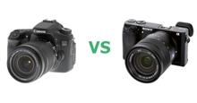 So sánh máy ảnh Sony A6000 và Canon 70D