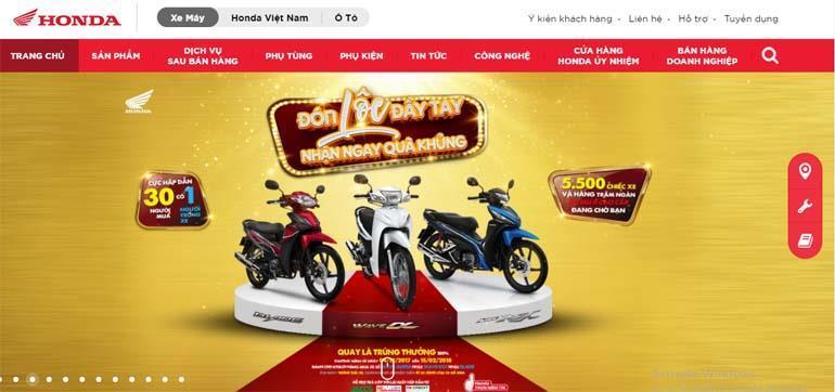 web xe máy